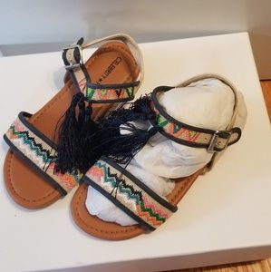 Girls embroidered sandals with tassles BOHO NWT